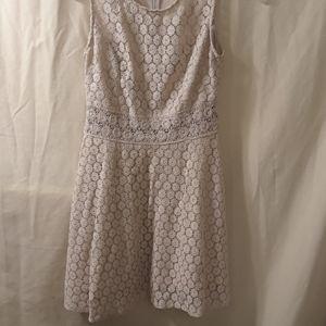 Rebellion Mini dress tan lace, lined